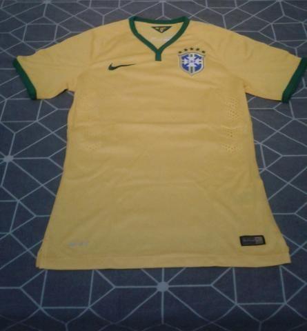 7fc5a743940 Camiseta Manga Curta CBF Seleção 2014 Nike Oficial tamanho