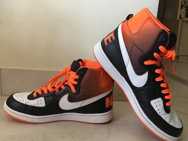 24b27037da Nike cano alto laranja, branco e preto - Roupas e calçados - Jardim ...