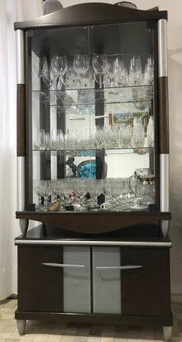 Cristaleira Detalhe c/ Espelho, pouco uso, sem avarias