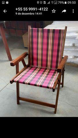Cadeiras novas com mesa suporte de Cuias e copos - Foto 6