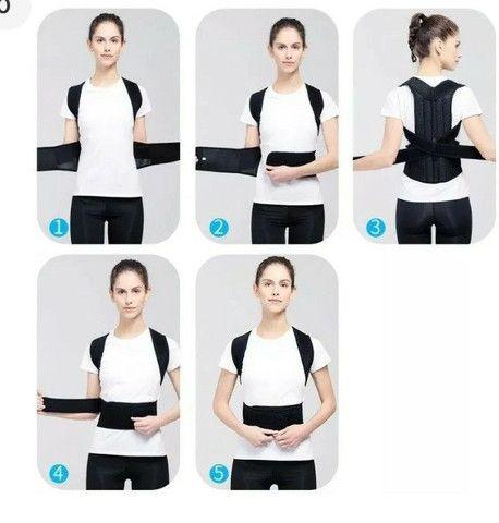 Corretor de postura para coluna e alinhamento ZAP na descrição - Foto 4