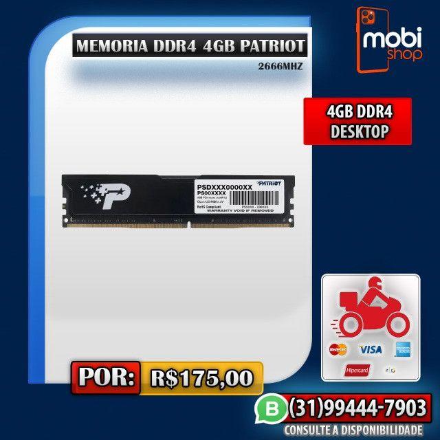 Memoria DDR4 4GB 2666Mhz Patriot / Nova / Promoção