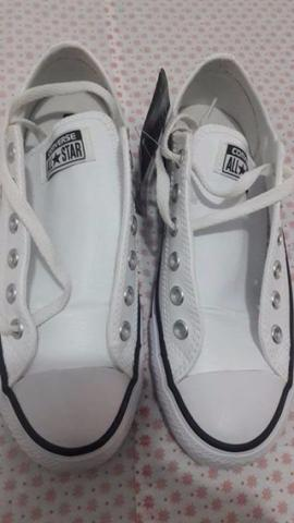 Tênis Casual Converse All Star Ct As Maden Ox - Branco NOVO com etiqueta
