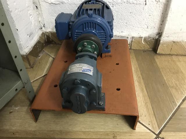 Bomba de engrenagem 1 polegada com motor de 1 vc 1150 rpm - Foto 2