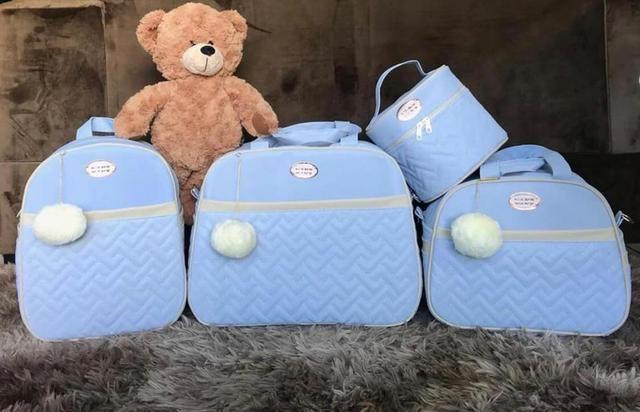 Kit Bolsa Maternidade Luxo com Mochila- 5 peças - Foto 2
