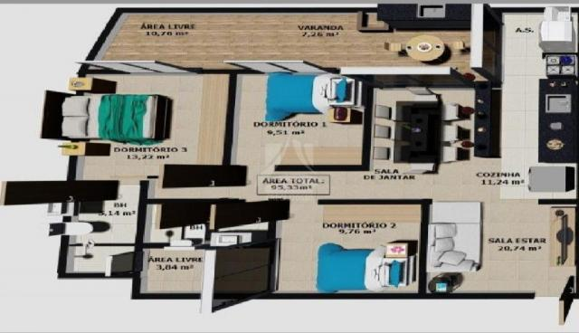 Apartamento à venda com 3 dormitórios em Parque dos bandeirantes, Ribeirão preto cod:58706 - Foto 2