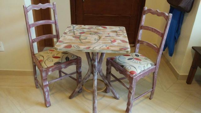 Jg mesa 2 cadeiras repaginado - Foto 5