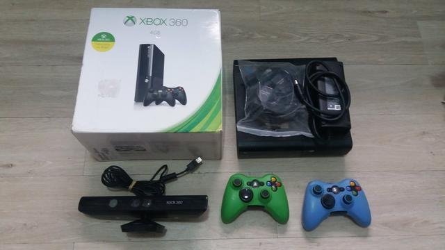 Xbox 360 4gb Destravado Com Kinect - Foto 4