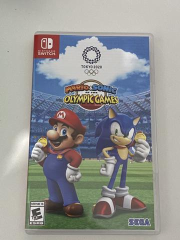 Mario e sonic nos jogos olímpicos 2020 para Nintendo switch