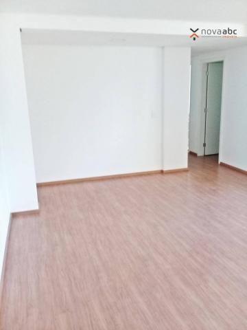 Apartamento com 3 dormitórios para alugar, 85 m² por R$ 2.500/mês - Jardim - Santo André/S - Foto 4