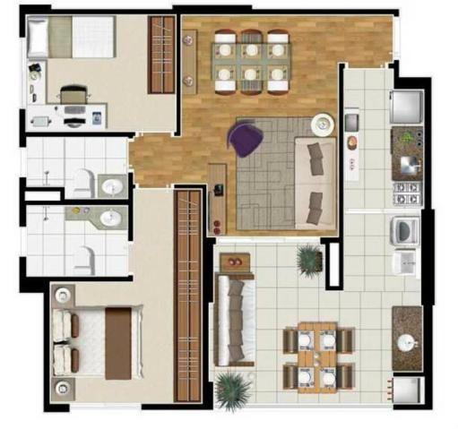 Apartamento à venda com 2 dormitórios em Panamby, São paulo cod:62363 - Foto 18