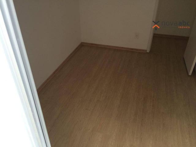 Apartamento com 2 dormitórios para alugar, 47 m² por R$ 1.300/mês - Vila Homero Thon - San - Foto 7
