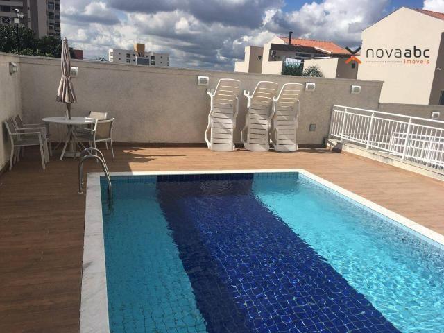 Apartamento com 2 dormitórios para alugar, 63 m² por R$ 2.100/mês - Campestre - Santo Andr