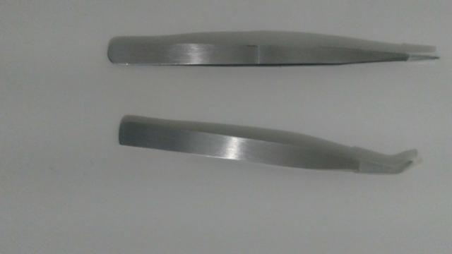 Pinças para extensão de cílios - Foto 2