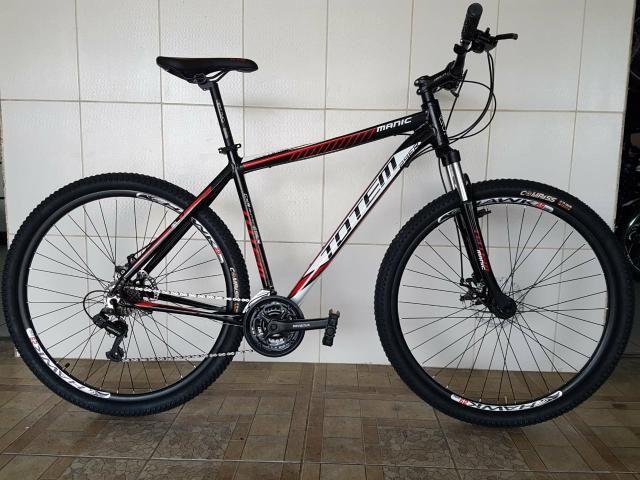 Bicicleta aro 29 freio a disco alumínio nova totem