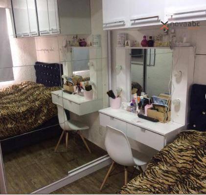 Apartamento com 2 dormitórios para alugar, 40 m² por R$ 850/mês - Vila Lutécia - Santo And - Foto 10