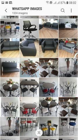 Banquetas mesas cadeiras bistros - Foto 2