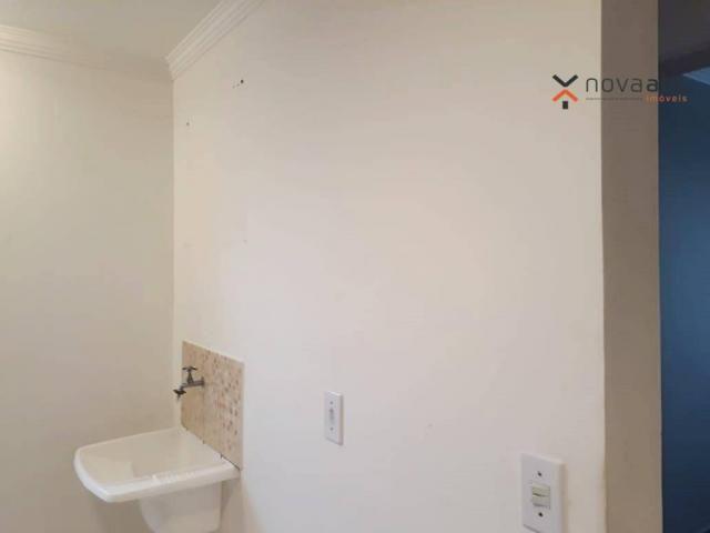 Apartamento com 2 dormitórios para alugar, 46 m² por R$ 900/mês - Vila João Ramalho - Sant - Foto 17