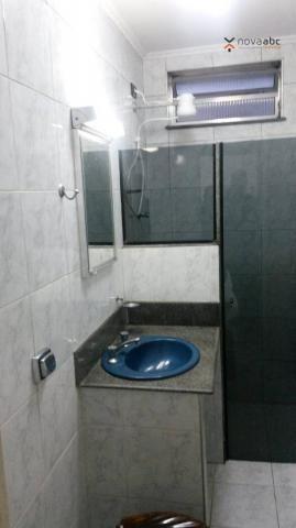 Apartamento com 1 dormitório para alugar, 58 m² por R$ 1.300/mês - Vila Floresta - Santo A - Foto 6
