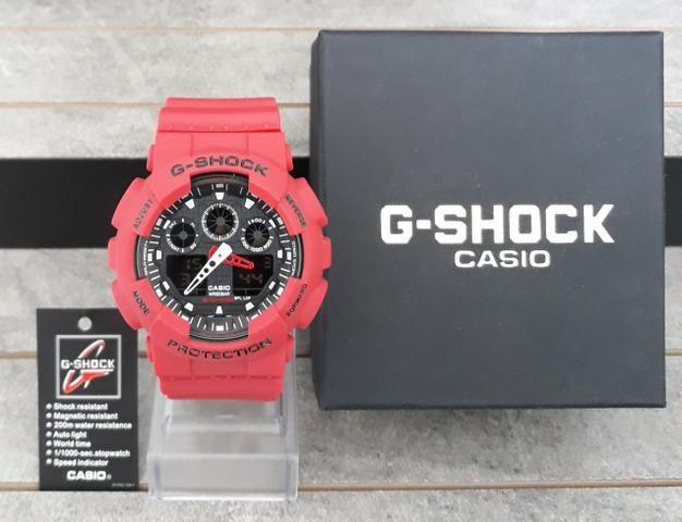 Relógio G Shock Casio Vermelho Novo