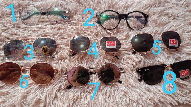 Óculos de sol e de grau rayban e dior no varejo