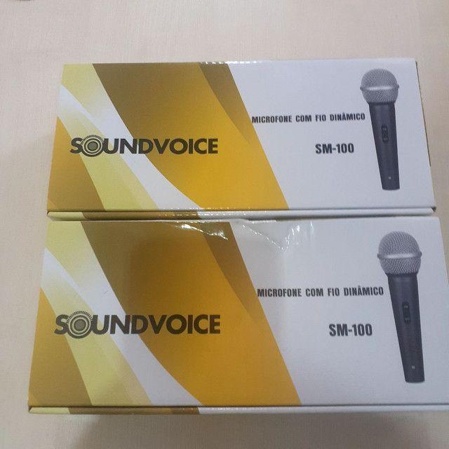 Microfone com fio Soudvoice SM - 100 - Foto 4