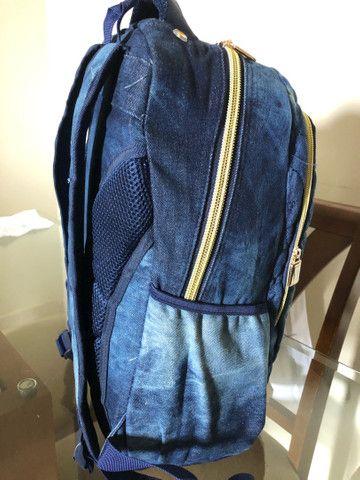 Mochila de notebook e escolar jeans vozz - Foto 2