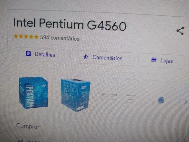 Kit placa mãe H110M-HG4 + processador Intel Pentium G4560 + 12 de ram  - Foto 2