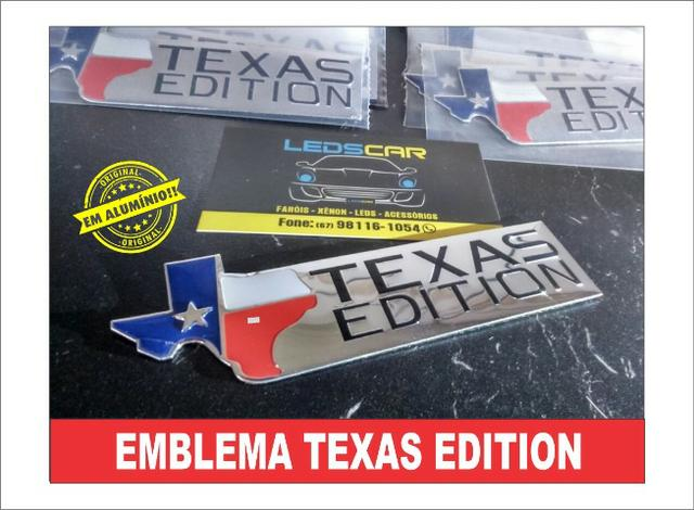 Emblemas Texas Edition F250/F1000/Silevrado/S10/Ranger/Dodge