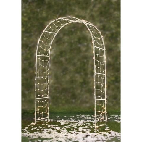 Arco Branco para Casamento com Luzes e 2.44 m de altura - Foto 3