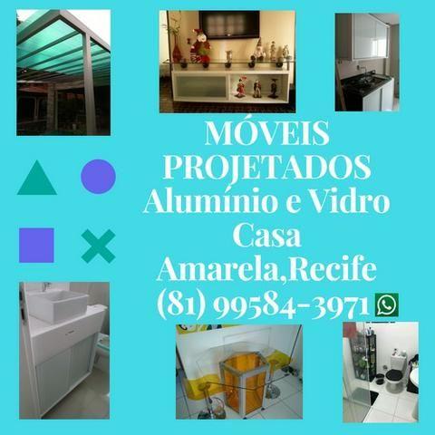 Móveis Projetados Alumínio e Vidro *
