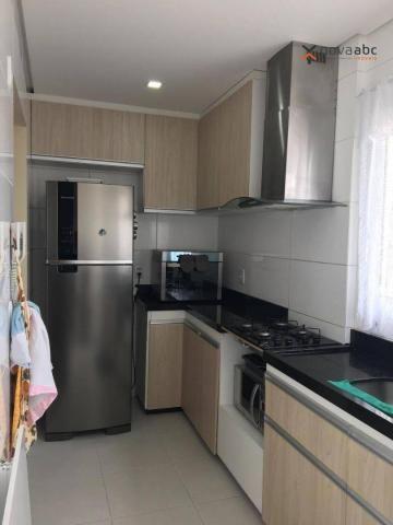 Apartamento com 2 dormitórios para alugar, 63 m² por R$ 2.100/mês - Campestre - Santo Andr - Foto 8