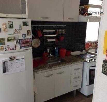 Apartamento com 2 dormitórios para alugar, 40 m² por R$ 850/mês - Vila Lutécia - Santo And - Foto 4