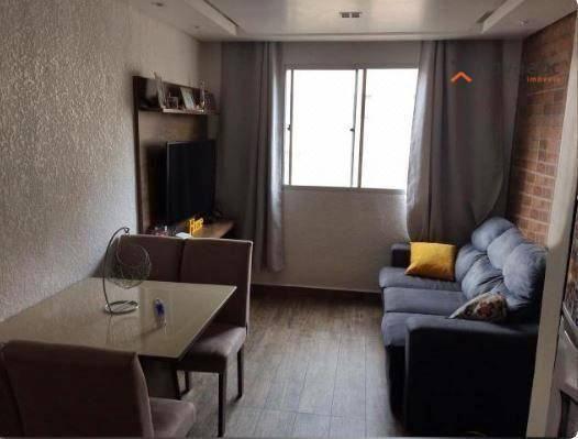 Apartamento com 2 dormitórios para alugar, 40 m² por R$ 850/mês - Vila Lutécia - Santo And