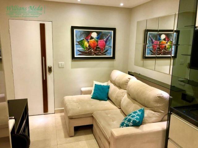Studio com 1 dormitório para alugar, 36 m² por r$ 1.950/mês - vila augusta - guarulhos/sp