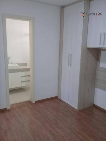 Apartamento com 3 dormitórios para alugar, 85 m² por R$ 2.500/mês - Jardim - Santo André/S - Foto 12