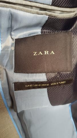 Terno Zara cinza claro