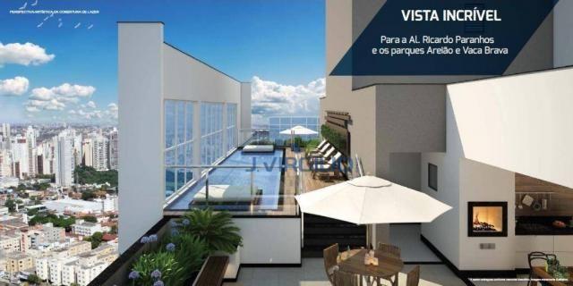 Apartamento com 1 quarto à venda, 39 m² por r$ 225.000 - setor bueno - goiânia/go - Foto 3