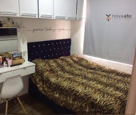 Apartamento com 2 dormitórios para alugar, 40 m² por R$ 850/mês - Vila Lutécia - Santo And - Foto 9