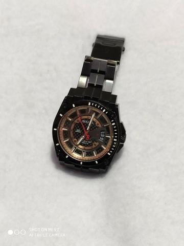 Relógio Bulova Masculino Precisionist Chrono Todo Preto S/s 98B143 Original - Foto 5