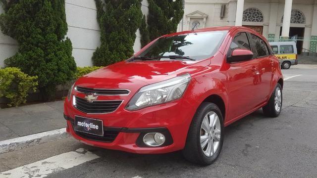 Chevrolet - Agile LTZ 1.4 Flex 2014 Vermelho Completo Super Novo Doc OK - Foto 3
