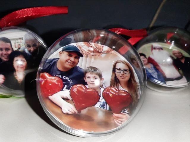 Kit 10 bolas de natal personalizadas com foto (6,5 cm de diâmetro) - Foto 2