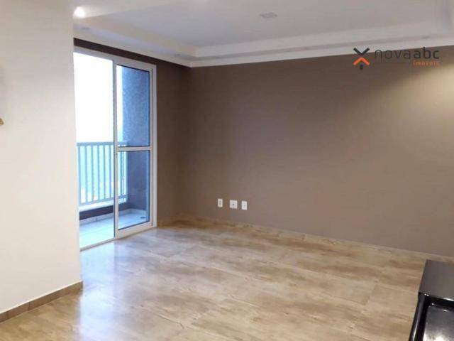 Apartamento com 2 dormitórios para alugar, 46 m² por R$ 900/mês - Vila João Ramalho - Sant - Foto 4