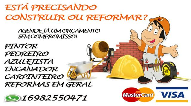 Pedreiro e Azulejista em Ribeirão Preto