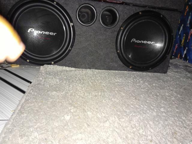 Vendo Sub Pioneer cara preta funcionando perfeitamente nunca recondicionado com box,250 $ - Foto 4