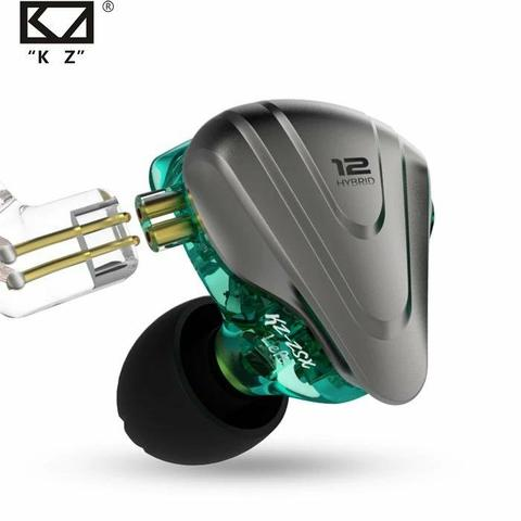 Fone Zsx In-Ear 12drives para retorno de palco kz profissional