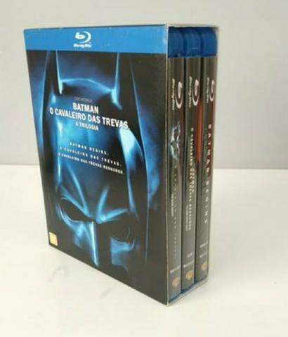 Box Blu-ray 3 filmes Batman Cristopher Nolan
