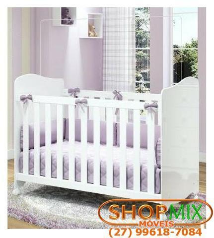 Frete Grátis* Quarto de Bebê Armário, Cômoda Tedy e Berço Uli- Tedy *NOVO - Foto 3