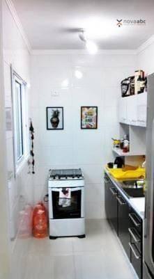 Apartamento com 2 dormitórios para alugar, 40 m² por R$ 1200/mês - Vila Floresta - Santo A - Foto 7