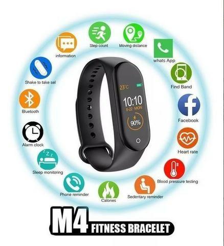 Pulseira Inteligente Smartband M4 Monitor Cardíaco Relógio - Foto 2